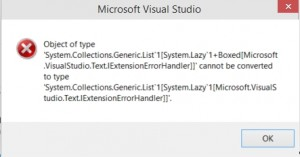 Visual Studio 2014 CTP 4 Error